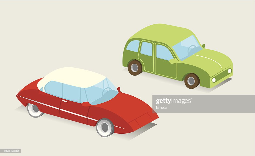 French vector cars