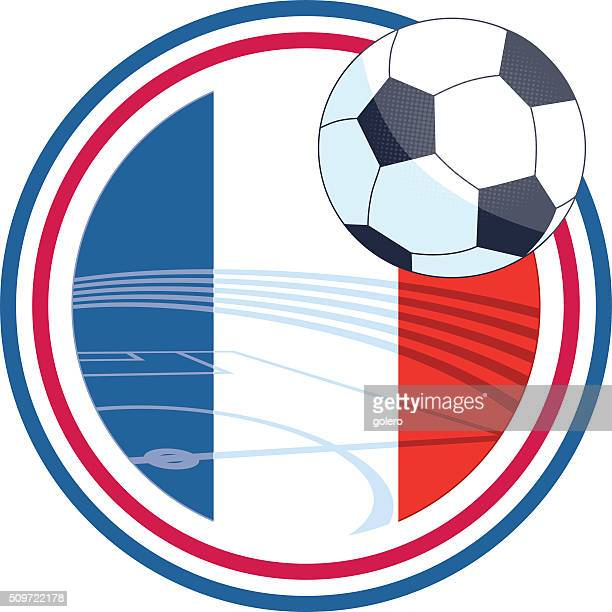 french vector soccer icon