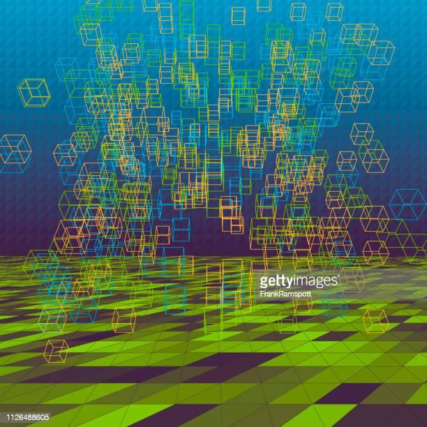 Frische abstrakte 3D-Vektor Cube