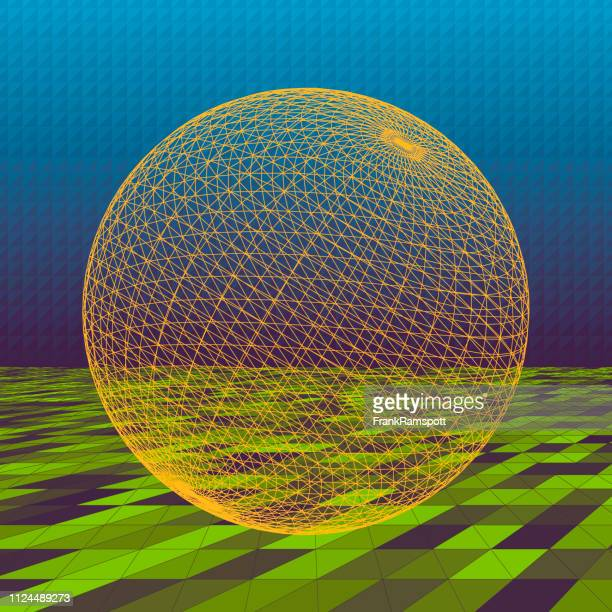Frische abstrakte 3D-Vektor Kugel