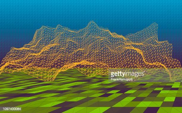 Frische 3D-Gelände Simulation Horizontal