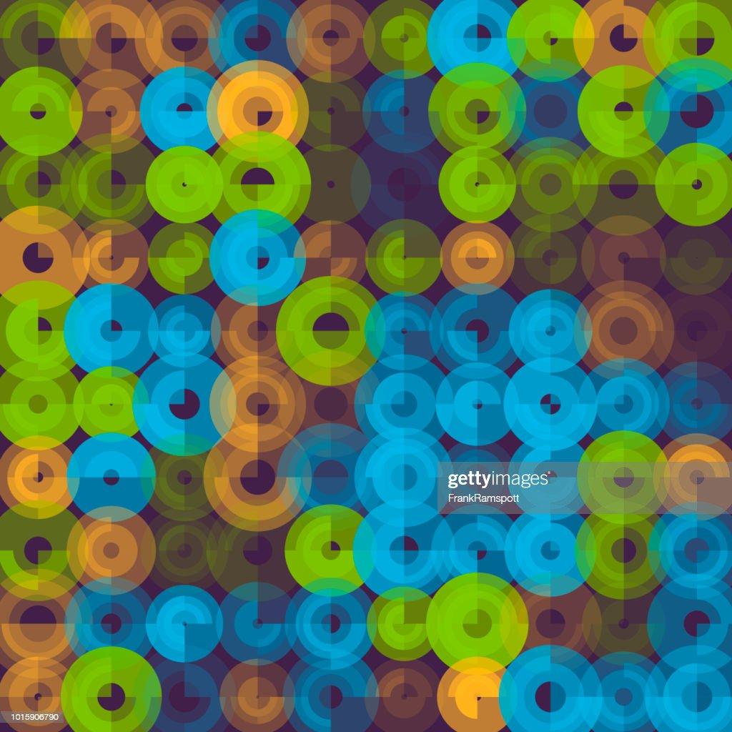 Frische abstrakt Kunst Kreismuster : Vektorgrafik