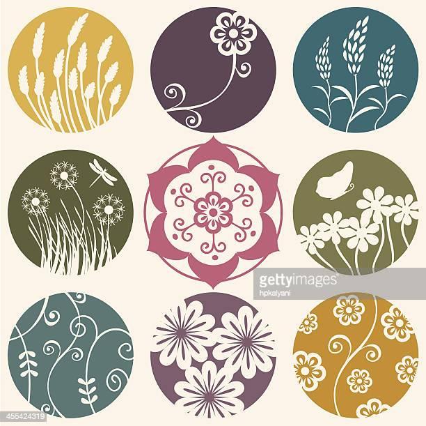 Air frais fleur cercles
