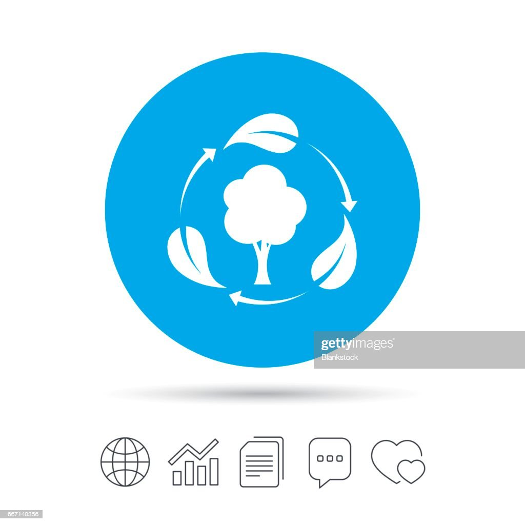 Fresh air sign icon. Forest tree with leaves.