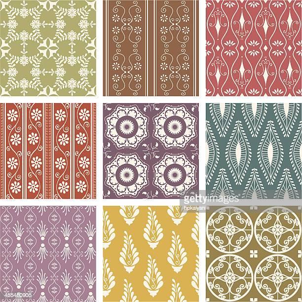 fresh air tiles - paisley pattern stock illustrations, clip art, cartoons, & icons