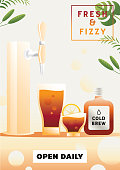 fresh and fizzy soft drink