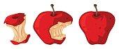 Fresh apple and rotten apple