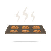 Fresh baked cookies vector isolated
