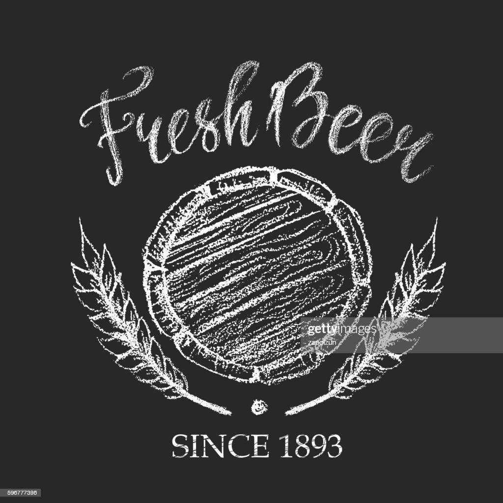 Fresh beer chalk badge