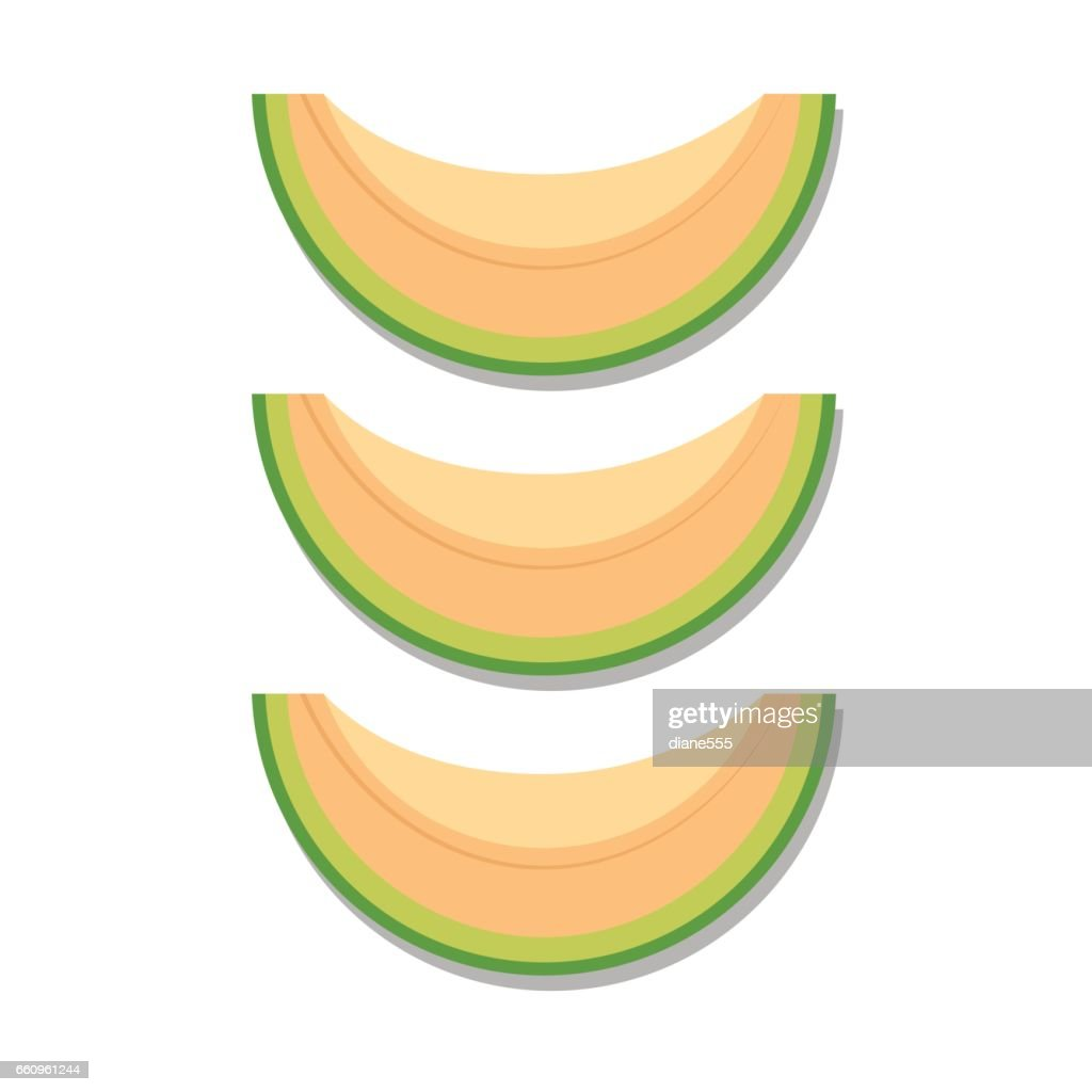 Fresh Cantaloupe On White Background.