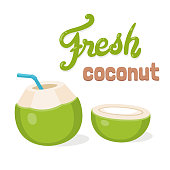 Fresh coconut water drink