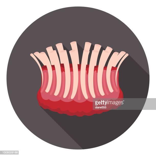 新鮮なクラウン ロースト肉アイコン - ローストビーフ点のイラスト素材/クリップアート素材/マンガ素材/アイコン素材