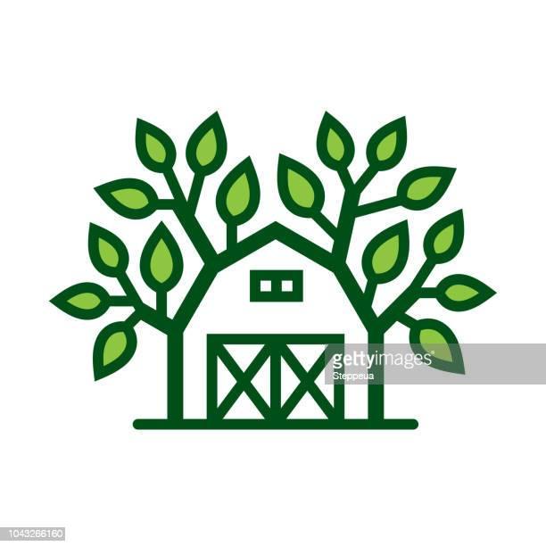 fresh farm icon - natural condition stock illustrations, clip art, cartoons, & icons