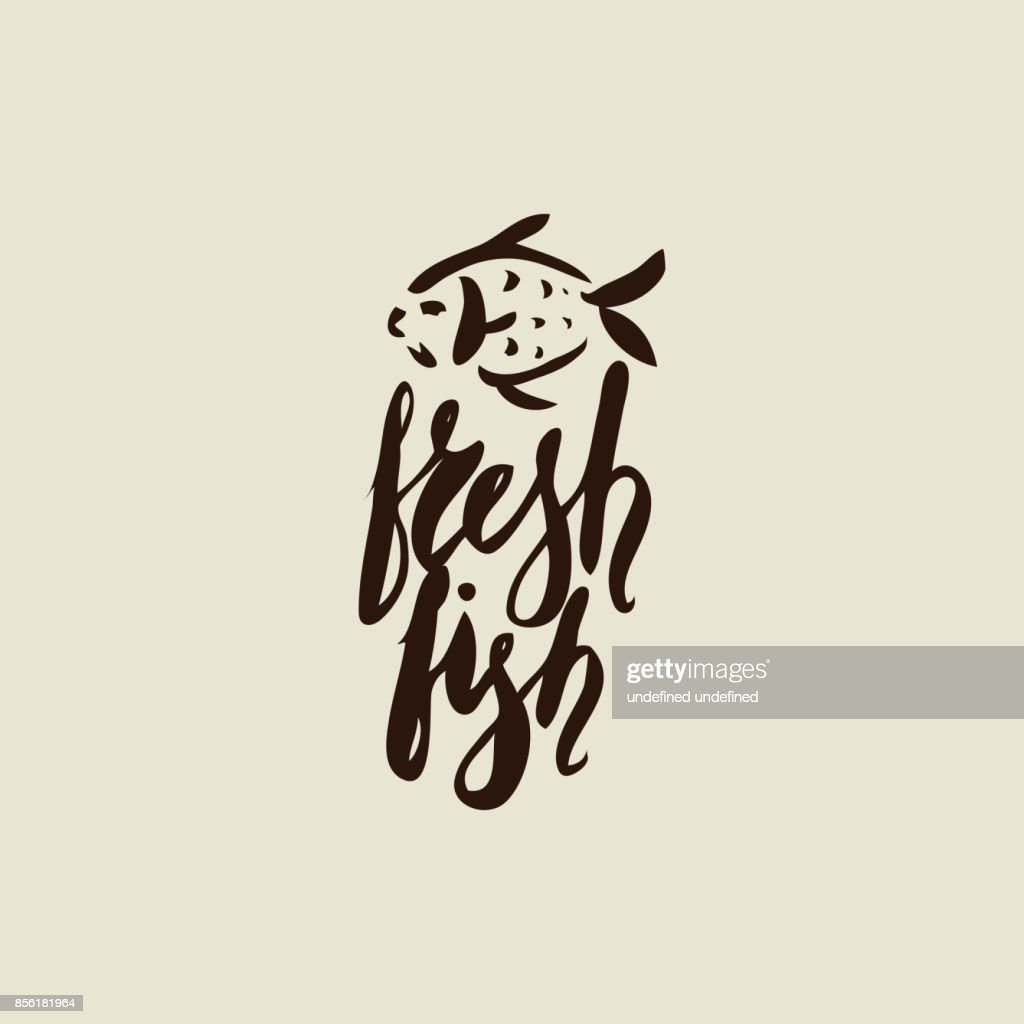 Fresh fish with waves