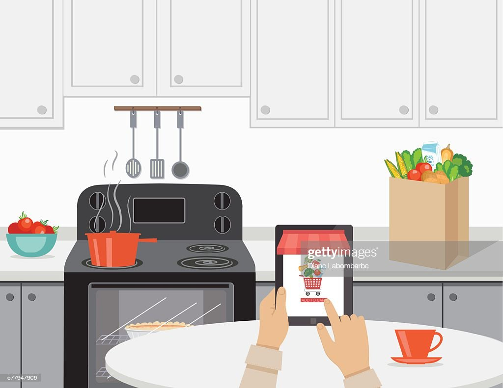 Fresh Food Delivery Concept - Online Grocery