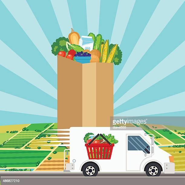 Frische Speisen Lieferung-Konzept
