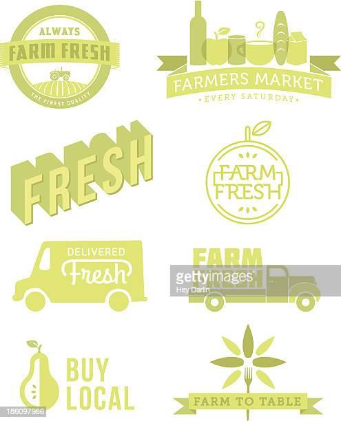 fresh food - agricultural fair stock illustrations, clip art, cartoons, & icons