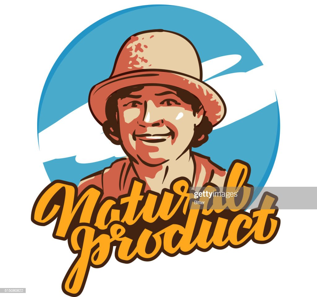 fresh food vector logo design template. farmer, grower, farm icon