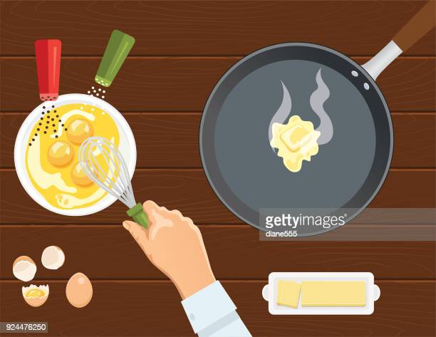 Fresh Foods And Cooking with Pots Pans and Utensils