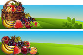Fresh Fruits Backgrounds/Banners