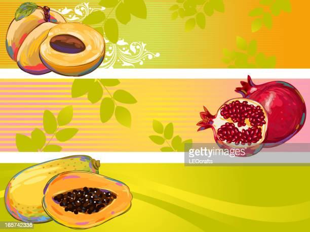 Bannières de fruits frais
