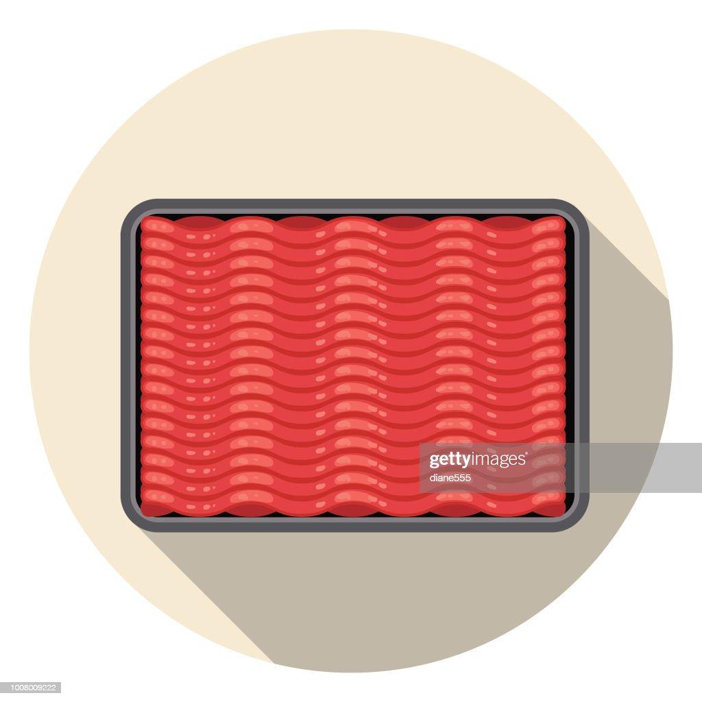 Tierra fresca carne carne icono : Ilustración de stock