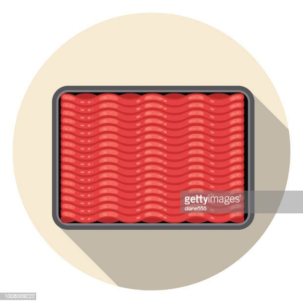 fresh ground beef meat icon - ground beef stock illustrations