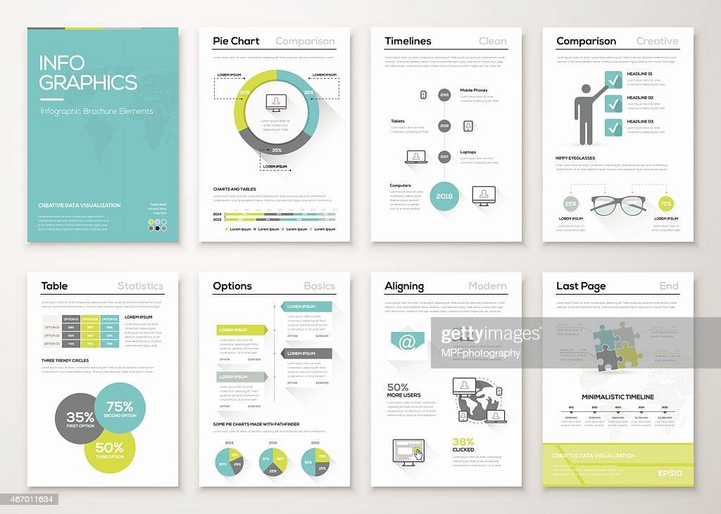 Fresh infographics vector concept. Business graphics brochures