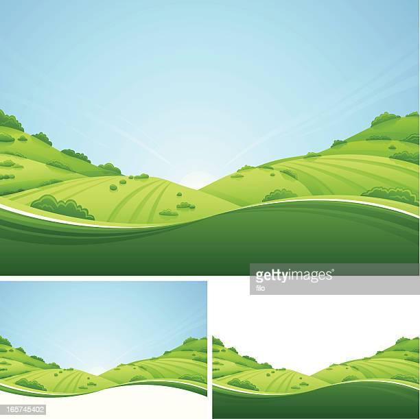 fresh landscape - horizontal stock illustrations
