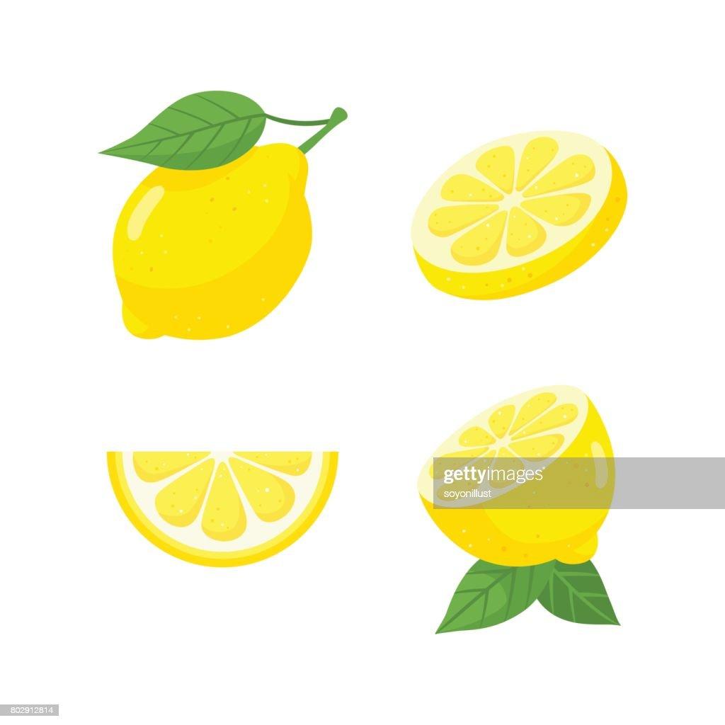 Fresh lemon fruit set