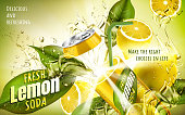 fresh lemon soda ad