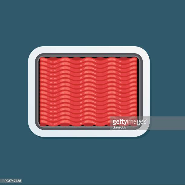 fresh meat icon sticker - ground beef stock illustrations
