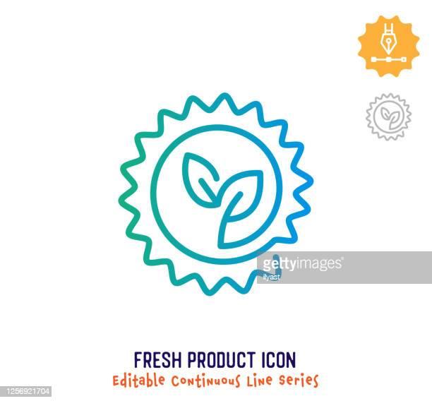 フレッシュ製品連続ライン編集可能なストロークライン - 生点のイラスト素材/クリップアート素材/マンガ素材/アイコン素材