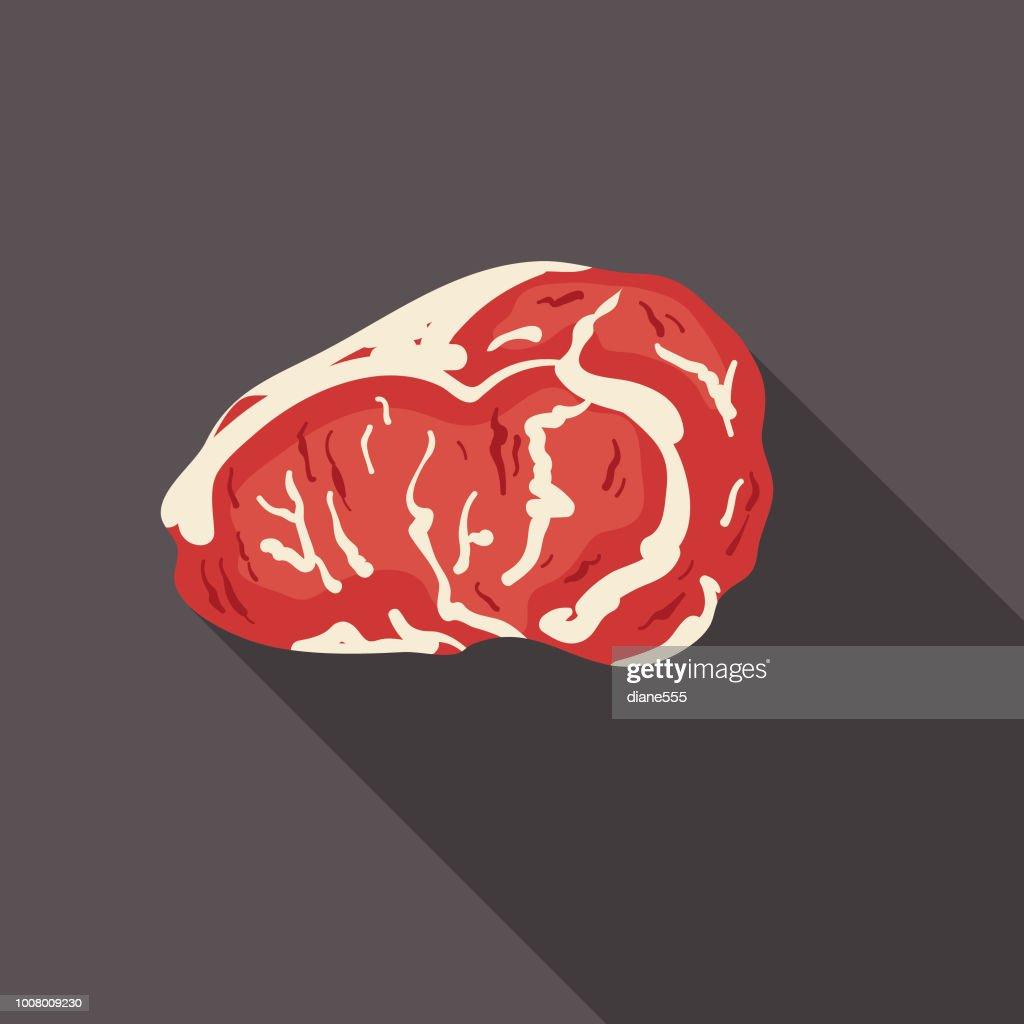 Fresh Roast Beef Meat Icon : stock illustration