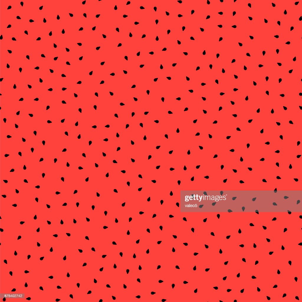 Fresh Sweet Natural Ripe Watermelon Seamless Pattern