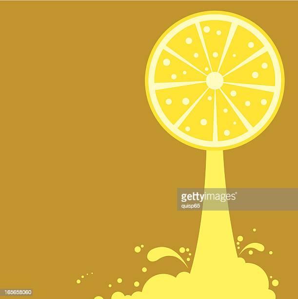 freshly squeezed lemon juice - fruit juice stock illustrations, clip art, cartoons, & icons