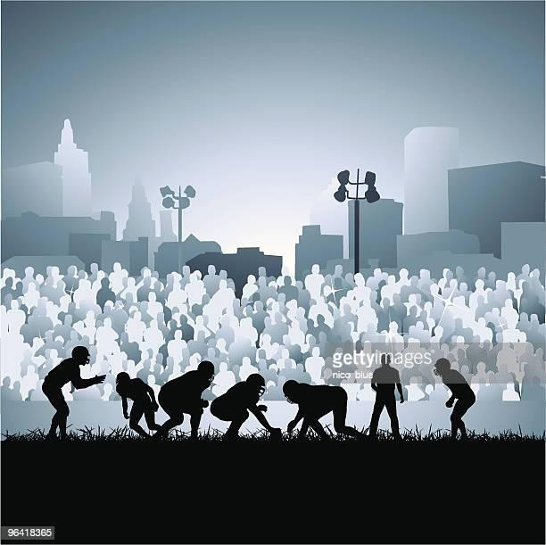 ilustraciones, imágenes clip art, dibujos animados e iconos de stock de luces de los viernes por la noche - deporte de equipo