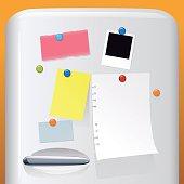 fridge with notes