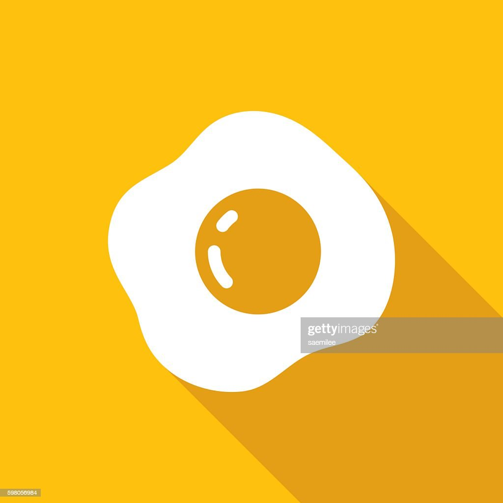 Fried Egg Icon White
