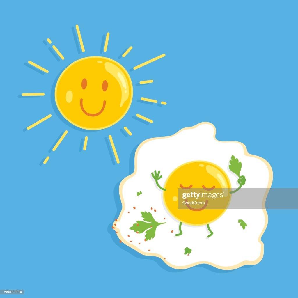 Fried egg : Vector Art
