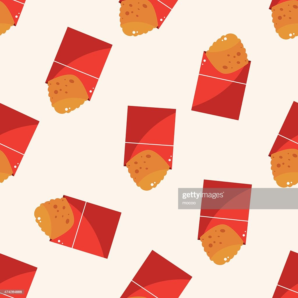 Fried foods theme hashbrown , cartoon seamless pattern background