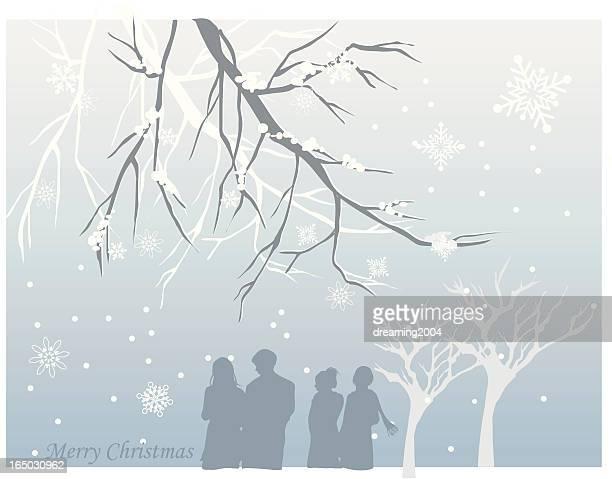 Freund treffen in Weihnachten