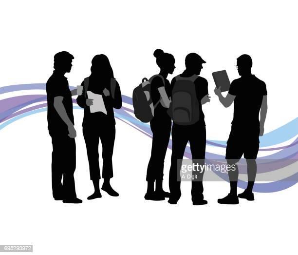 friend groups - high school stock illustrations, clip art, cartoons, & icons