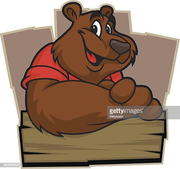 ilustraciones, imágenes clip art, dibujos animados e iconos de stock de cordial bear - oso pardo