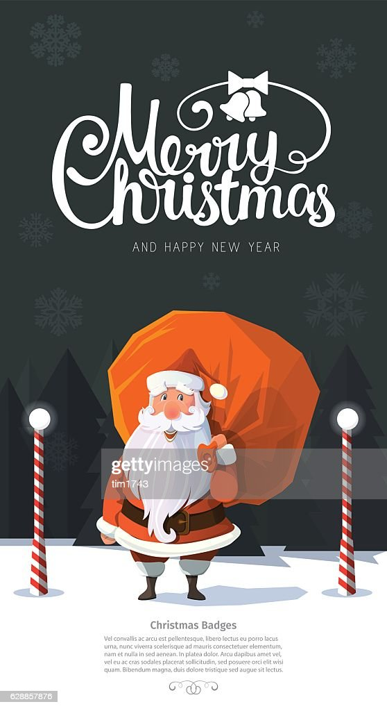 Friendly looking trendy vector Santa Clause