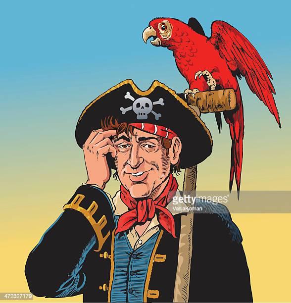 Papagaio de pirata e o seu amigo