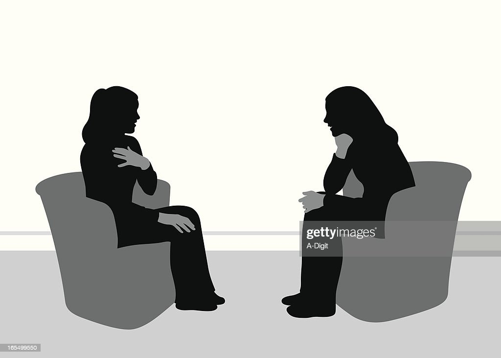 Friendly Talk Vector Silhouette