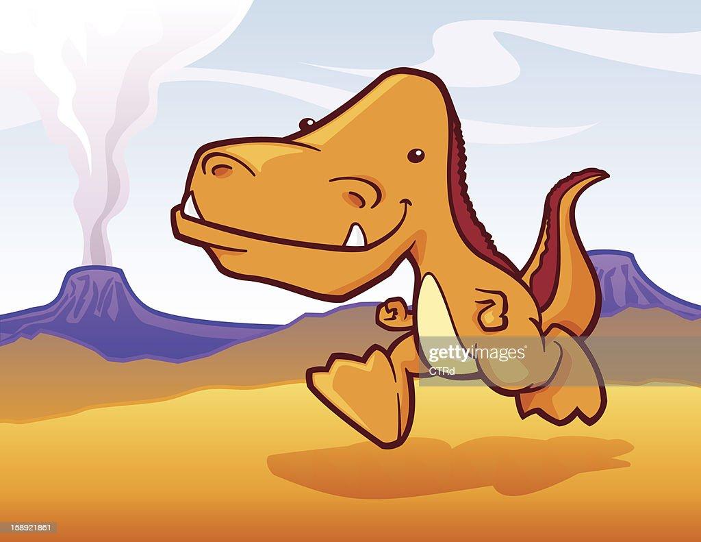 Friendly T-Rex : Vector Art