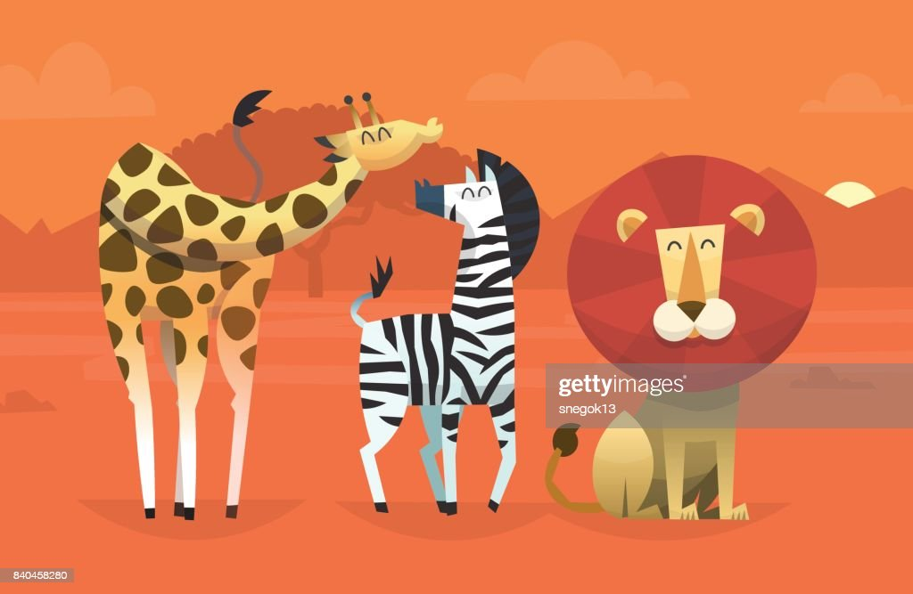 Friendly tropical animals