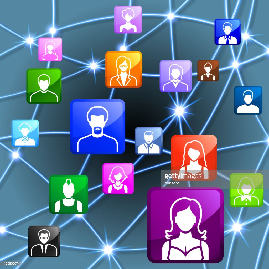 Friends and social connections connection